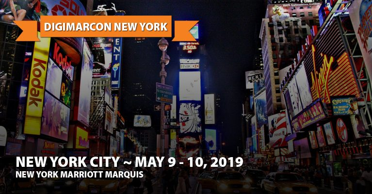 About: DigiMarCon New York 2019 · May 9 - 10, 2019 · Digital